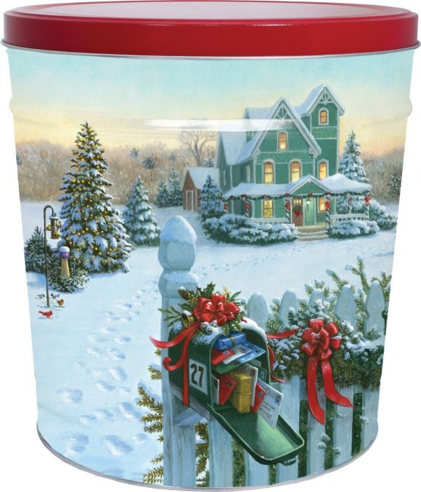 Mail On Christmas Eve 2019.3 5 Gallon Gift Tin Christmas Mail